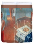 Sleeping Child Duvet Cover by Kuzma Sergeevich Petrov Vodkin