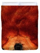 Sleeping Chow Chow Duvet Cover