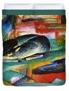 Sleeping Deer 1913 Duvet Cover