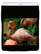 Sleeping Flamingo Duvet Cover