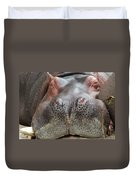 Sleeping Hippo Duvet Cover