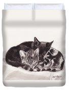 Sleeping Kittens Duvet Cover
