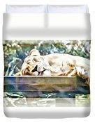 Sleeping Kittykat Duvet Cover