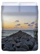Sleeping On South Beach Duvet Cover