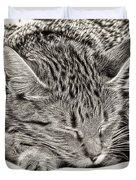 Sleeping Tabby Duvet Cover