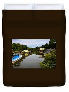 Sleepy Cedar Key Florida Duvet Cover