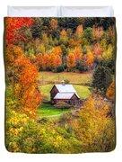 Sleepy Hollow Farm In Fall Duvet Cover