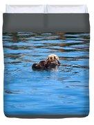 Sleepy Otter Duvet Cover