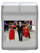 Slices Of Chinese Life Duvet Cover by Christine Till