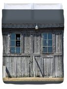 Sliding Barn Doors With Windows Duvet Cover