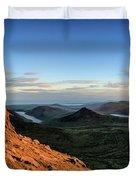 Slieve Bearnagh Rusty Golden Sunset Duvet Cover