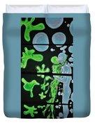 Slime Bubble Couple Duvet Cover