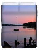 Sloop Sunset Duvet Cover