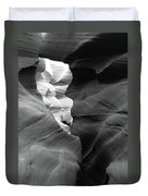 Slot Canyon Black And White Duvet Cover