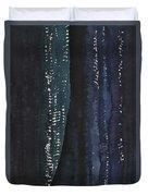 Slot Canyon In Moonlight Original Painting Duvet Cover
