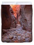 Slot Canyon Reflections Duvet Cover