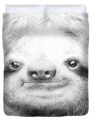 Sloth Duvet Cover by Eric Fan