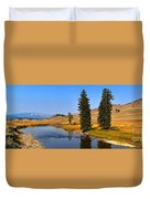 Slough Creek Afternoon Panrama Duvet Cover