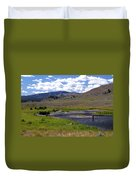 Slough Creek Angler Duvet Cover by Marty Koch