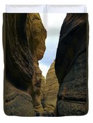 Slot Canyon Within The Tent Rocks Duvet Cover