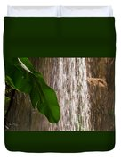 Slow Motion Tropical Waterfall Duvet Cover