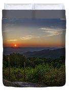 Skyline Drive National Park At Sunset Duvet Cover