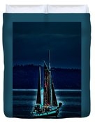 Small Among The Tall Ships Duvet Cover