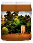 Small Autumn Silo Duvet Cover