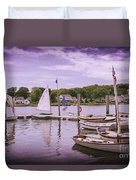 Small Boat Day Duvet Cover