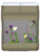 Small Butterflies Sipping Flower Nectar Duvet Cover