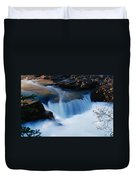 Small Cascade In Maligne Canyon Duvet Cover