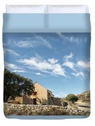 Small Chapel In The Hills Of The Balagne Region Of Corsica Duvet Cover