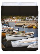 Small Fishing Boats Duvet Cover