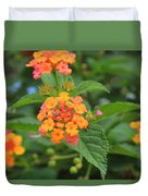 Small Flowers On A Tree Duvet Cover