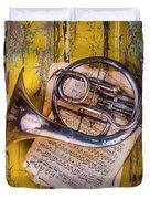 Small French Horn Duvet Cover