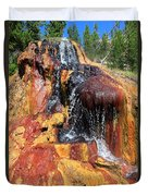 Small Geyser In Yellowstone Duvet Cover