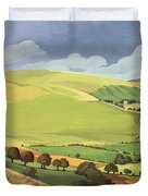 Small Green Valley Duvet Cover