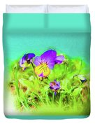 Small Group Of Violets Duvet Cover