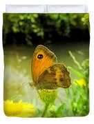 Small Heath Butterfly Duvet Cover