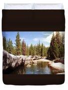 Small Lake Sierra Nevada Duvet Cover