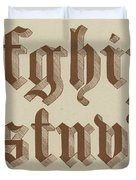 Small Old English Riband  Duvet Cover