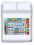 Small Paintings For Sale In La Boca Area Of Buenos Aires-argentina  Duvet Cover
