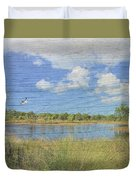 Small Pond With Weathered Wood Duvet Cover