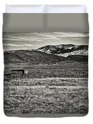 Small Ranch Colorado Foothills Duvet Cover