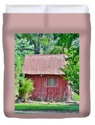 Small Red Barn - Lewes Delaware Duvet Cover