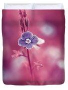 Small Romantic Violet Flower Duvet Cover