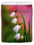 Small Signs Of Spring Duvet Cover