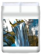 Small Stop Motion Waterfall Duvet Cover