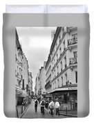 Small Street In Paris Duvet Cover