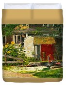 Small Town Life Duvet Cover